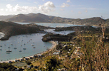 Antigua's English Harbour fand Falmouth Harbour