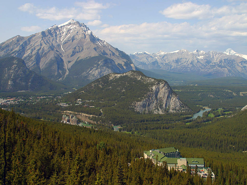 Canada: Banff Viewed from Surfur Mountain Gondola