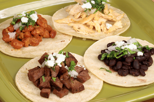 Mexican Food: Four Tacos