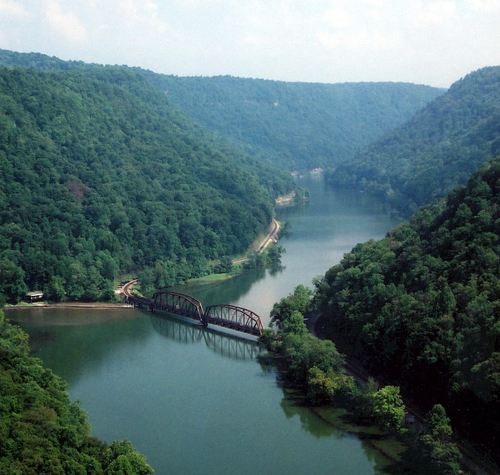 West Virginia: River Gorge Bridge in the New River Valley